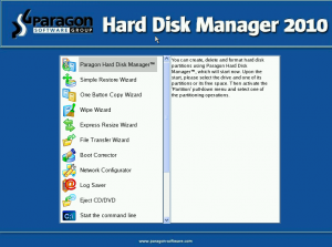 support de restauration Hard Disk Manager