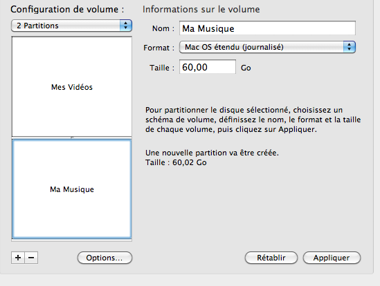 partitionner une clé usb mac