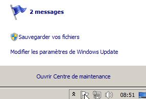 Centre de maintenance sauvegarder vos fichiers