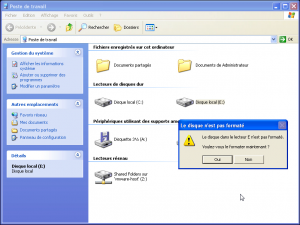 IMG-Message voulez-vous formater disque raw