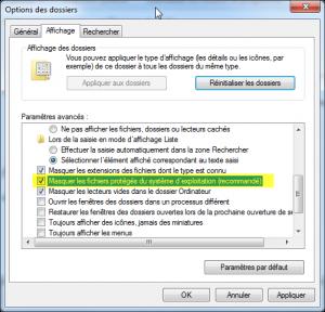 fichiers système