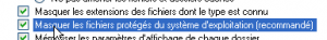 masquer les fichiers systèmes
