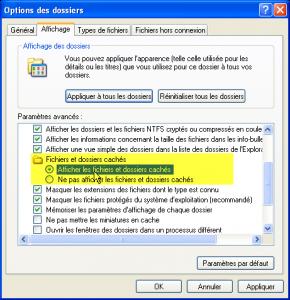 options afficher les fichiers